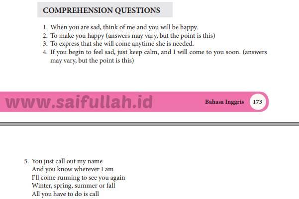 Chapter 15 Halaman 198 Comprehension Questions Bahasa Inggris Kelas 10