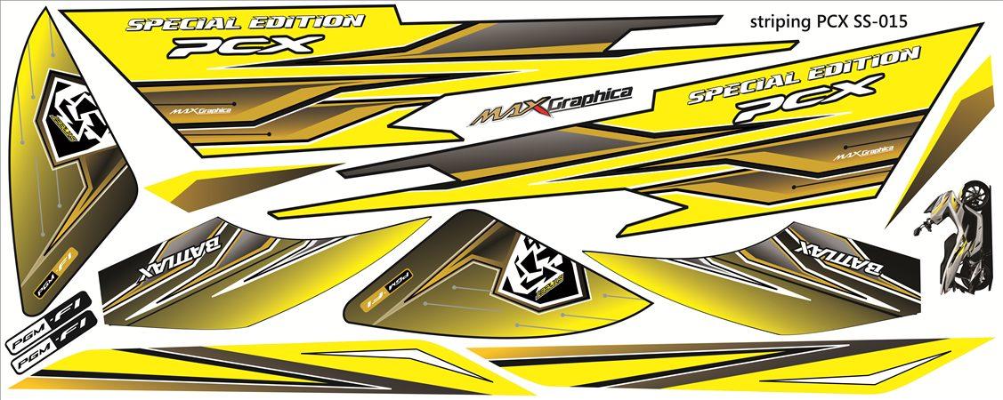 Sticker striping motor mobil
