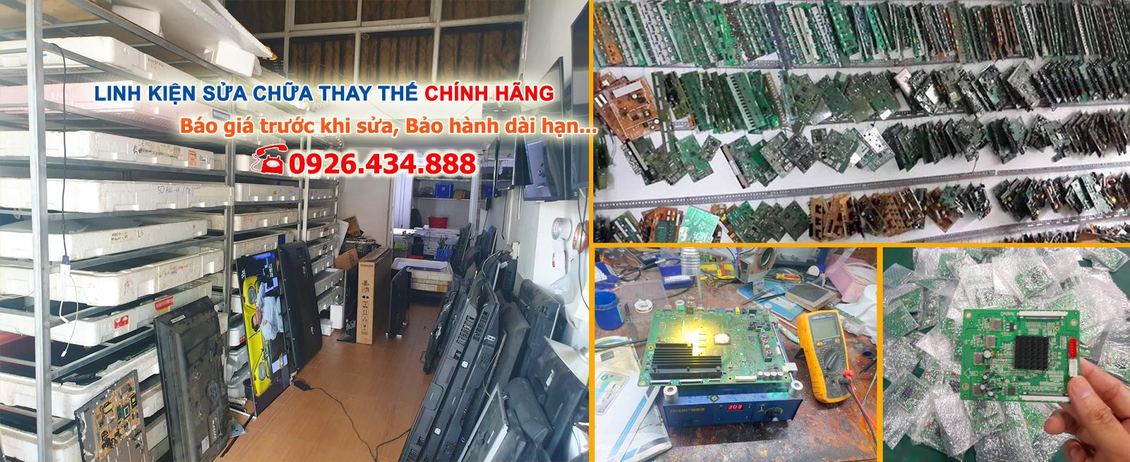 Kho linh kiện đầy đủ theo hãng phục vụ sửa tivi tại Thái Nguyên của trung tâm