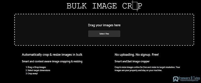 Bulk Image Crop : un outil gratuit pour recadrer des images par lots