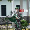 Kasrem 141/Tp, Inspektur Upacara Bendera Dan Membacakan Amanat Pangdam Hasanuddin