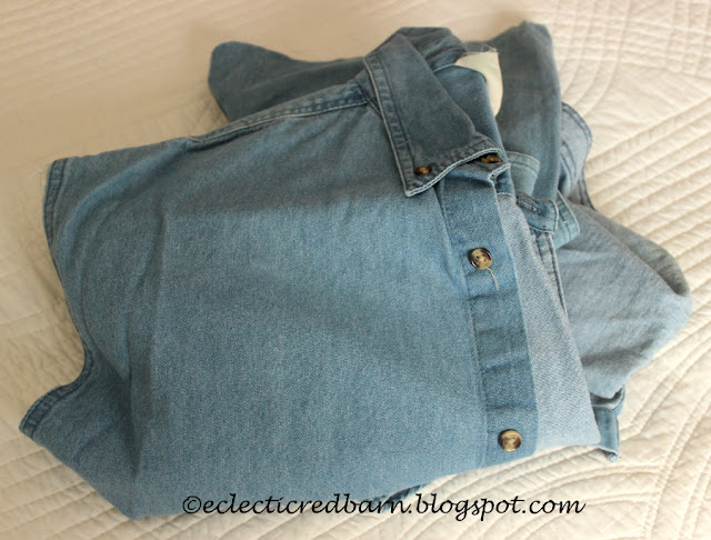 Eclectic Red Barn: Old Jean shirt