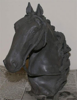 ceramic horse statue, clay sculpture demonstration, clay art tutorial