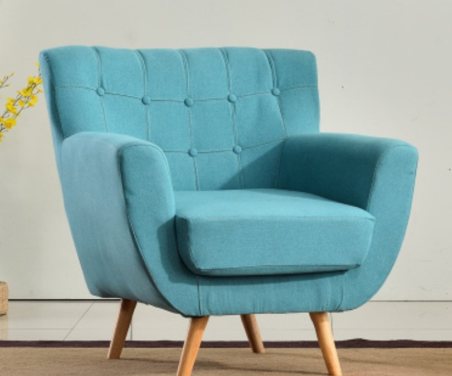 Blue mini single sofa chair couch for kids ideas