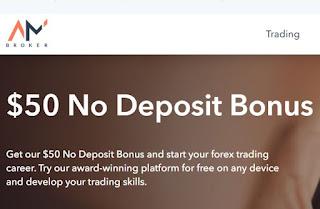 AMBroker $50 Forex No Deposit Bonus