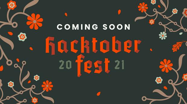 Hacktoberfest logo in decorative faux-German font