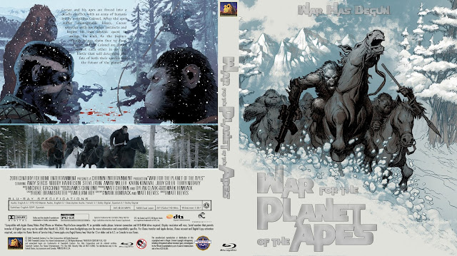 War for the Planet of the Apes Bluray Cover