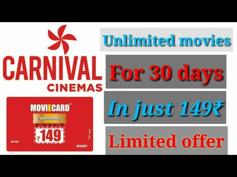 Watch Unlimited Movies for 30 Days at Just Rs.149 - Carnival Cinemas