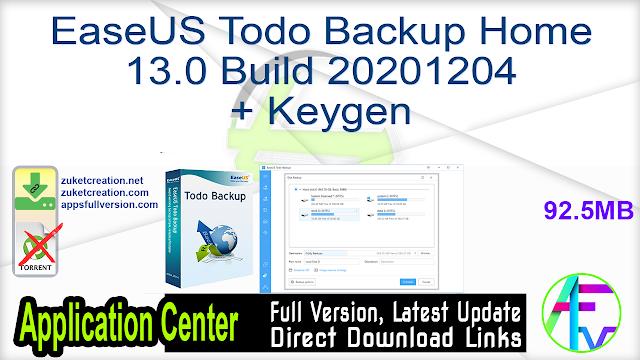 EaseUS Todo Backup Home 13.0 Build 20201204 + Keygen