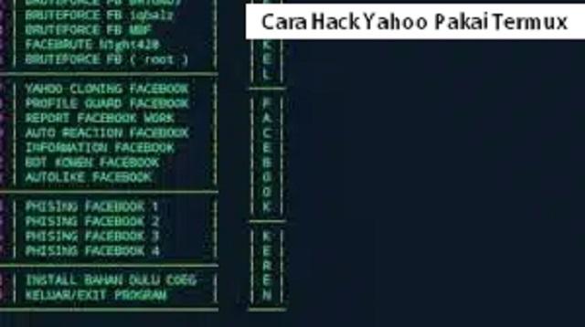 Cara Hack Yahoo Pakai Termux