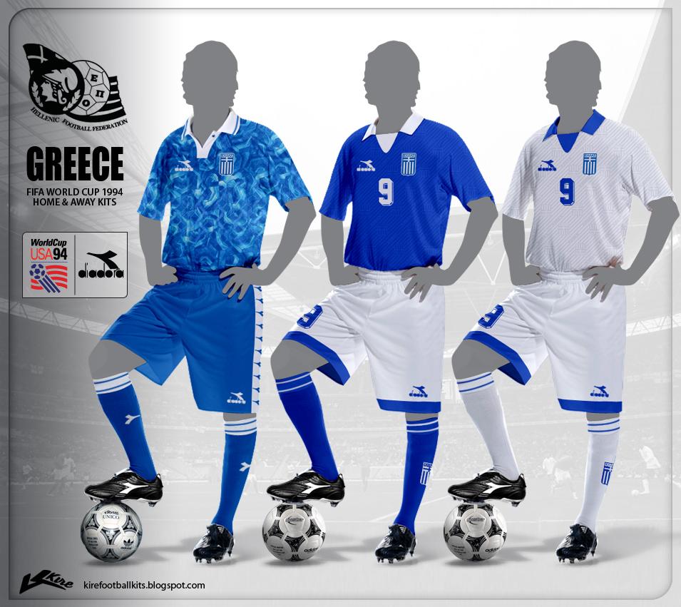 6dd0455fd Kire Football Kits  Greece Kits World Cup 1994