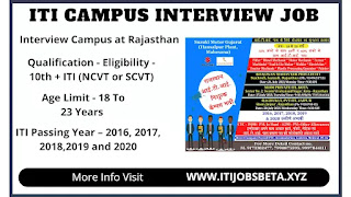 ITI Campus Placement In Rajasthan