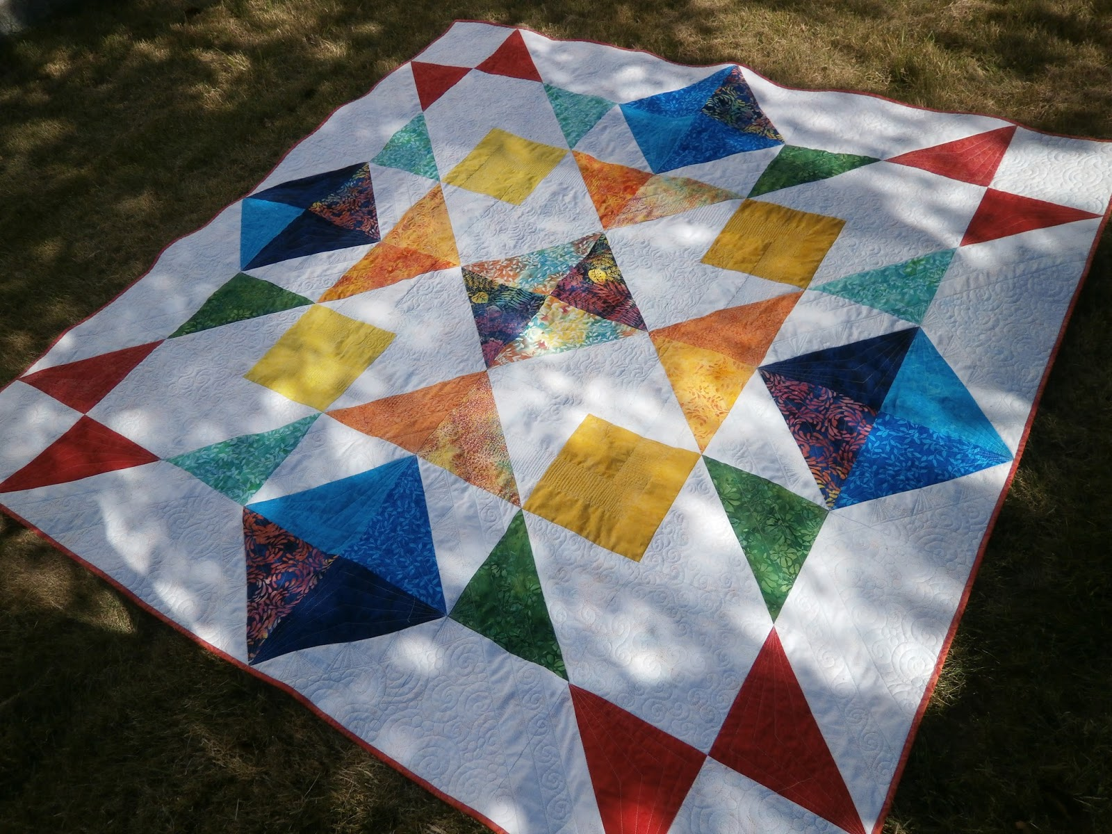 Did I meet the challenge and e up with a modern quilt made with batiks If you would like to see what the other Ambassadors came up with