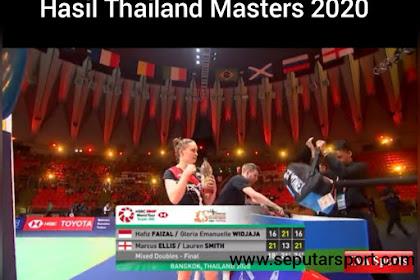 Gloria/hafiz kalah, Hasil final Thailand Masters 2020