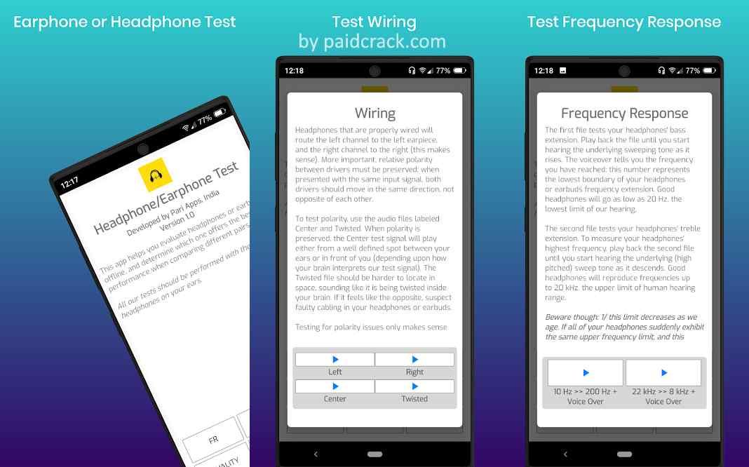 Earphone and Headphone Test Mod Apk 1.0 [Paid]
