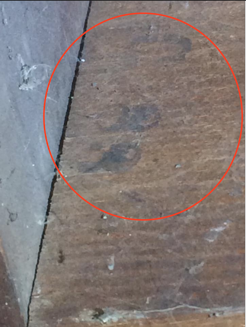 stamped lumber in a sears house
