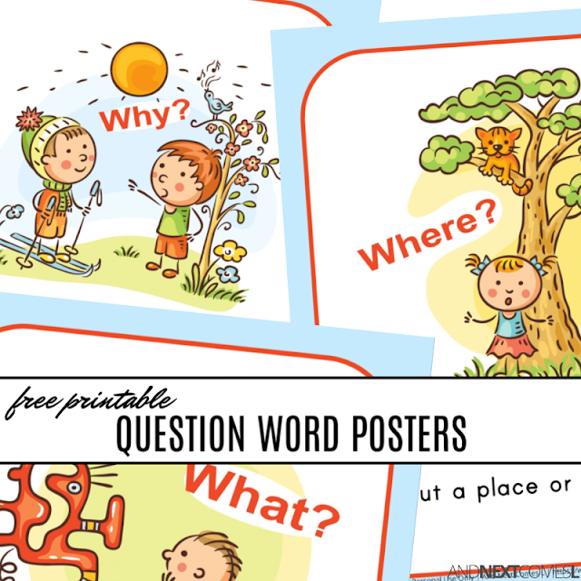 Free printable WH question word posters