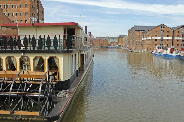 Canvas print for sale of Gloucester Docks