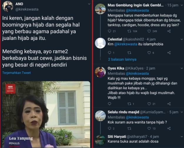 Benturkan Kebaya Dan Hijab Pendukung Jokowi Dihajar Warganet Berita Islam