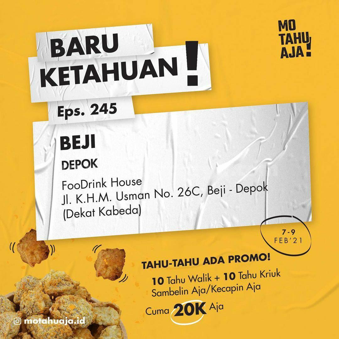 Mo Tahu Aja BEJI DEPOK Opening Promo Paket 20 Tahu cuma Rp 20.000