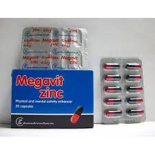 سعر ودواعي استعمال ميجافيت زنك Megavate Zinc فيتامينات