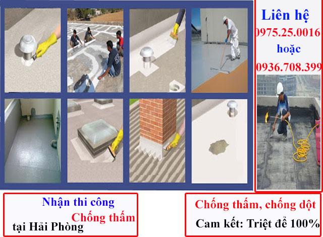 Chúng tôi chuyên nhận chống thấm tất cả các hạng mục như: chống thấm sàn mái, chống thấm sân thượng, chống thấm nhà vệ sinh, chống thấm bể nước,..tạ Hải Phòng