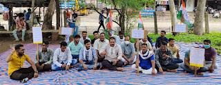 Congress Dharna Pradarshan,कांग्रेस ने किया धरना प्रदर्शन,बढ़े हुए बिजली बिल को लेकर धरना,राजगढ़,सरदारपुर