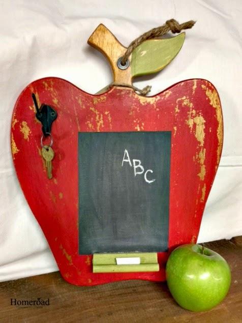 apple cutting board chalkboard