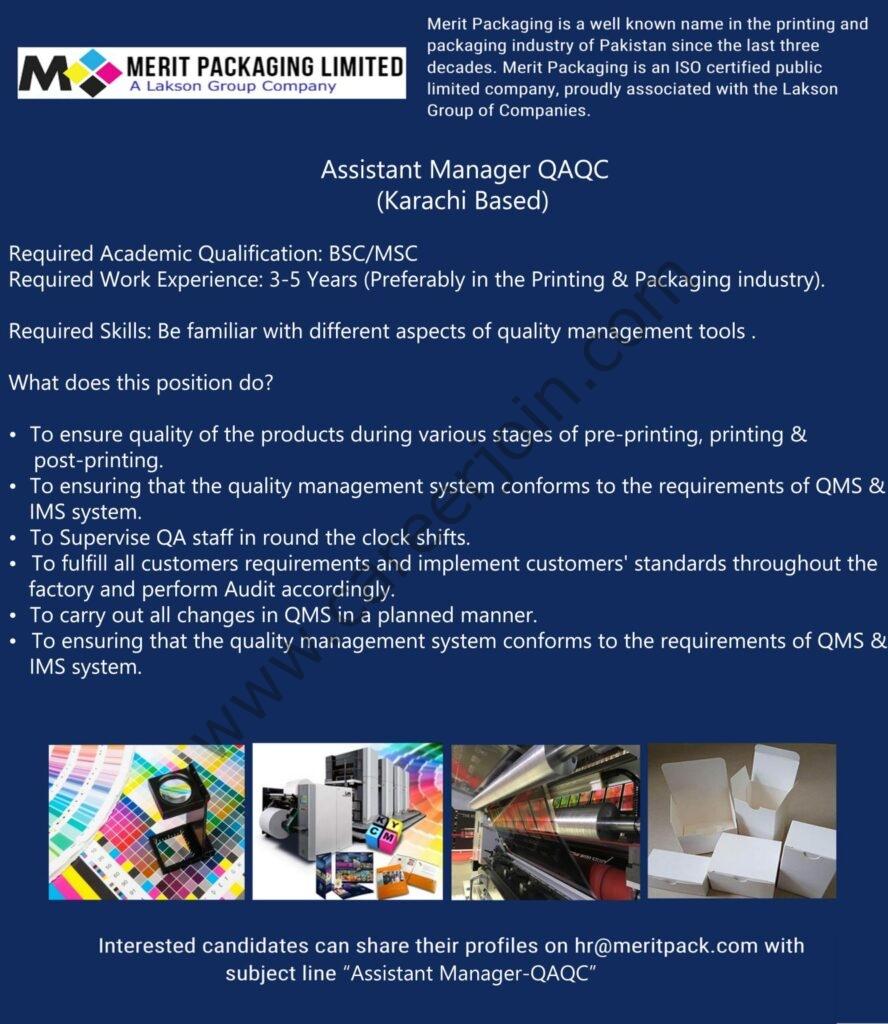 hr@meritpack.com - Merit Packaging Ltd Jobs 2021 in Pakistan