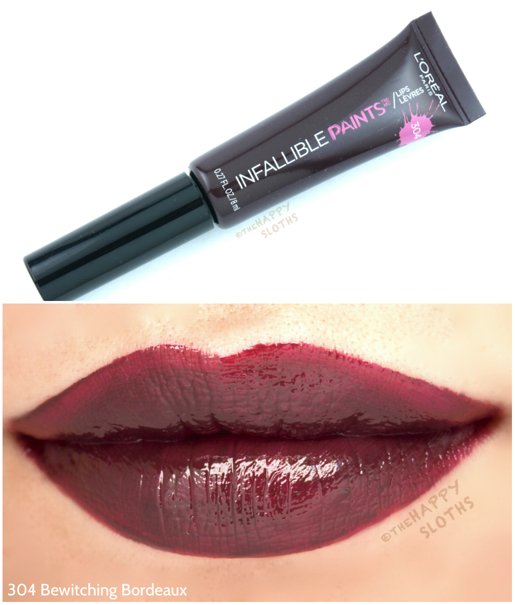 L'Oreal Infallible Lip Paints 304 Bewitching Bordeaux