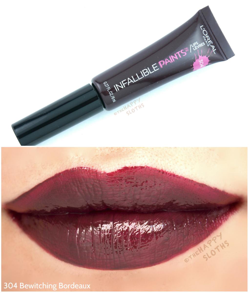 L'Oreal Infallible Lip Paints 304 Bewitching Bordeaux