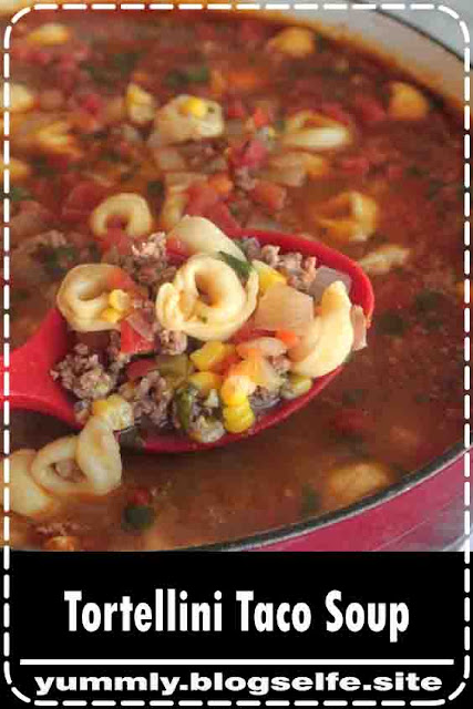 Sharing my favorite taco soup recipe today! My Tortellini Taco Soup makes the perfect quick fix weeknight dinner for the whole family! Packed with your favorite taco flavors. Taco Soup You are in for such a treat with my Tortellini Taco Soup! Taco soup with the addition of tortellini is a game changer! This is the best time of year to make big pots of soup. We are loving this fun twist on taco soup. The tortellini brings a great layer of flavor and the kids go nuts for it. This soup takes just minutes to prepare, perfect for busy