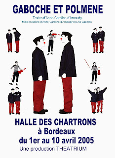 Théâtre, d'arnaudy, clown, gaboche, polmène, Alexandre Tessier, Fabienne Terraube, Yann Maurel
