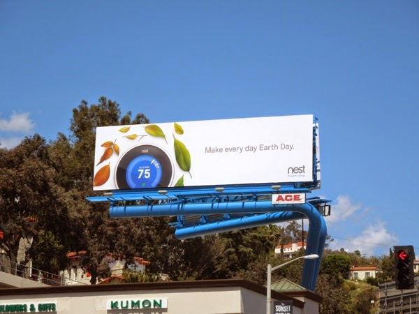 Make every day Earth Day Nest billboard