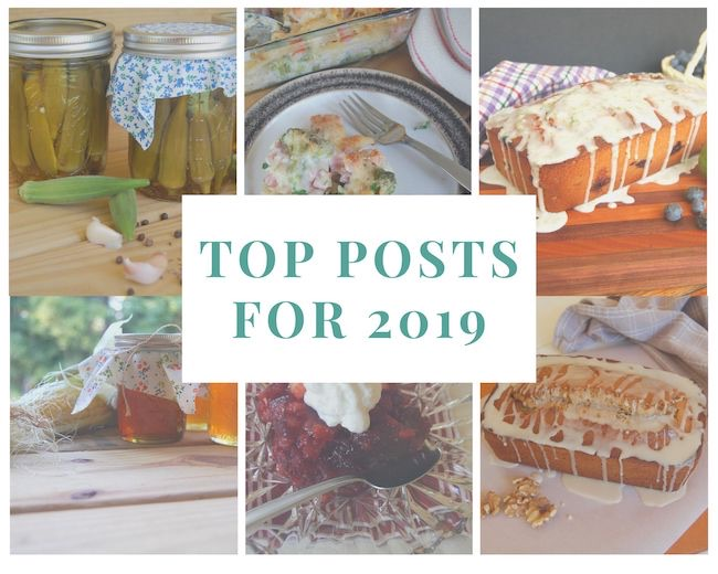 Top Posts for 2019 by Little Frugal Homestead featured at Pieced Pastimes