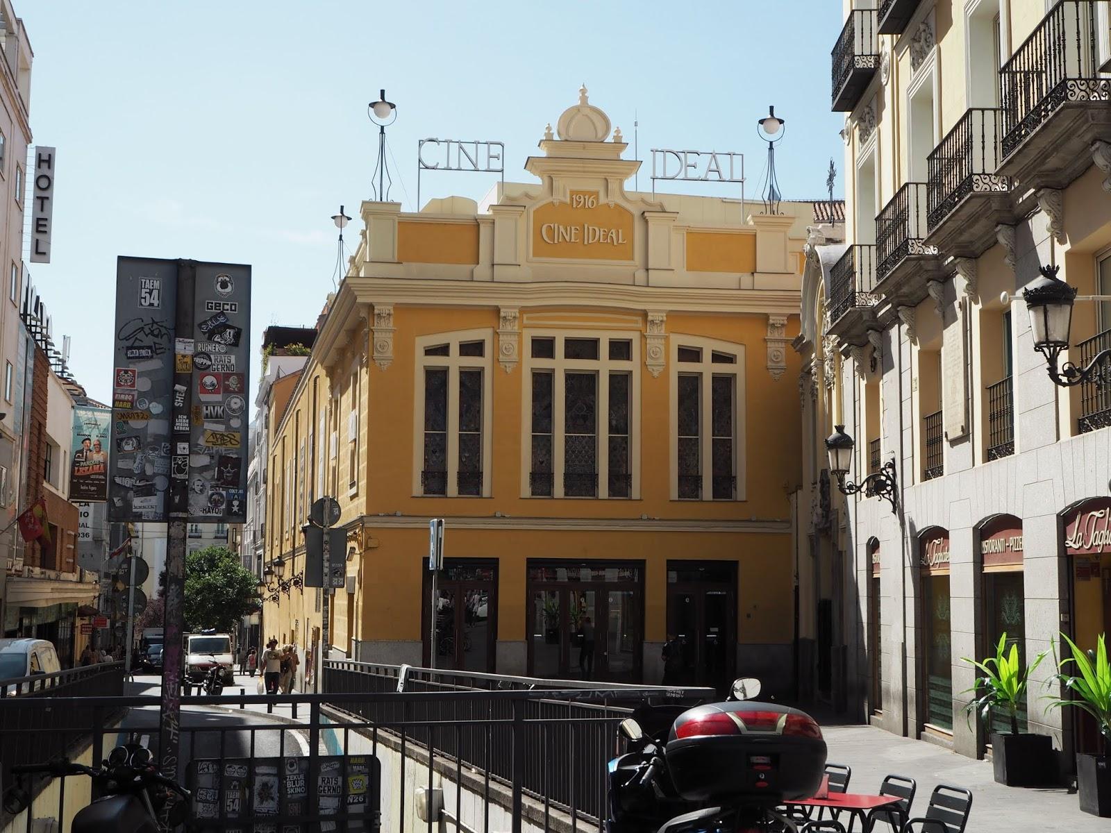 art nouveau cinema in madrid