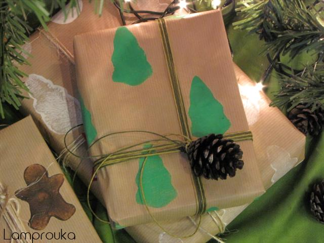 Πώς να φτιάξεις στάμπες από πατάτα για να διακοσμήσεις τα δώρα σου.