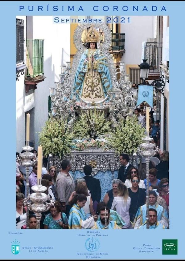 Cartel anunciador de las Fiesta en honor y gloria a la Purísima Concepción de María de La Algaba 2021