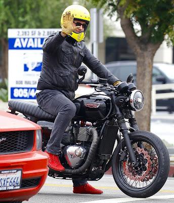 JC Chasez riding his bike