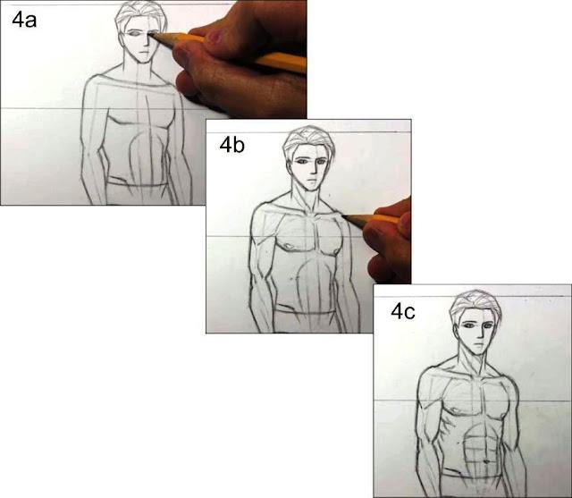cara menggambar manusia tahap 4