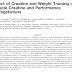 Efeito da creatina e do treinamento com pesos na creatina muscular e no desempenho em vegetarianos.