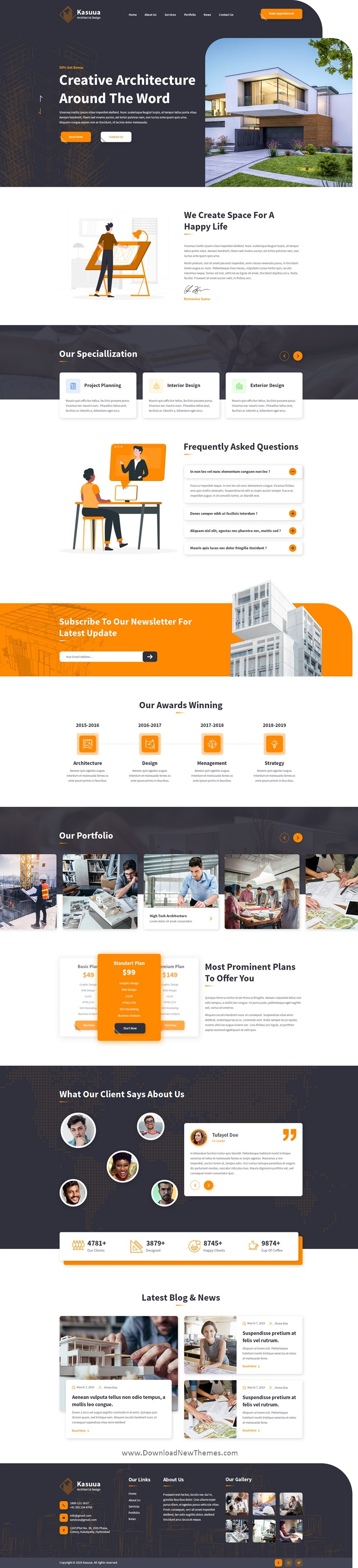 Architect & Design Website Template