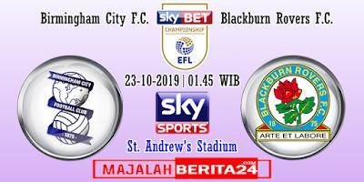 Prediksi Birmingham City vs Blackburn Rovers — 23 Oktober 2019