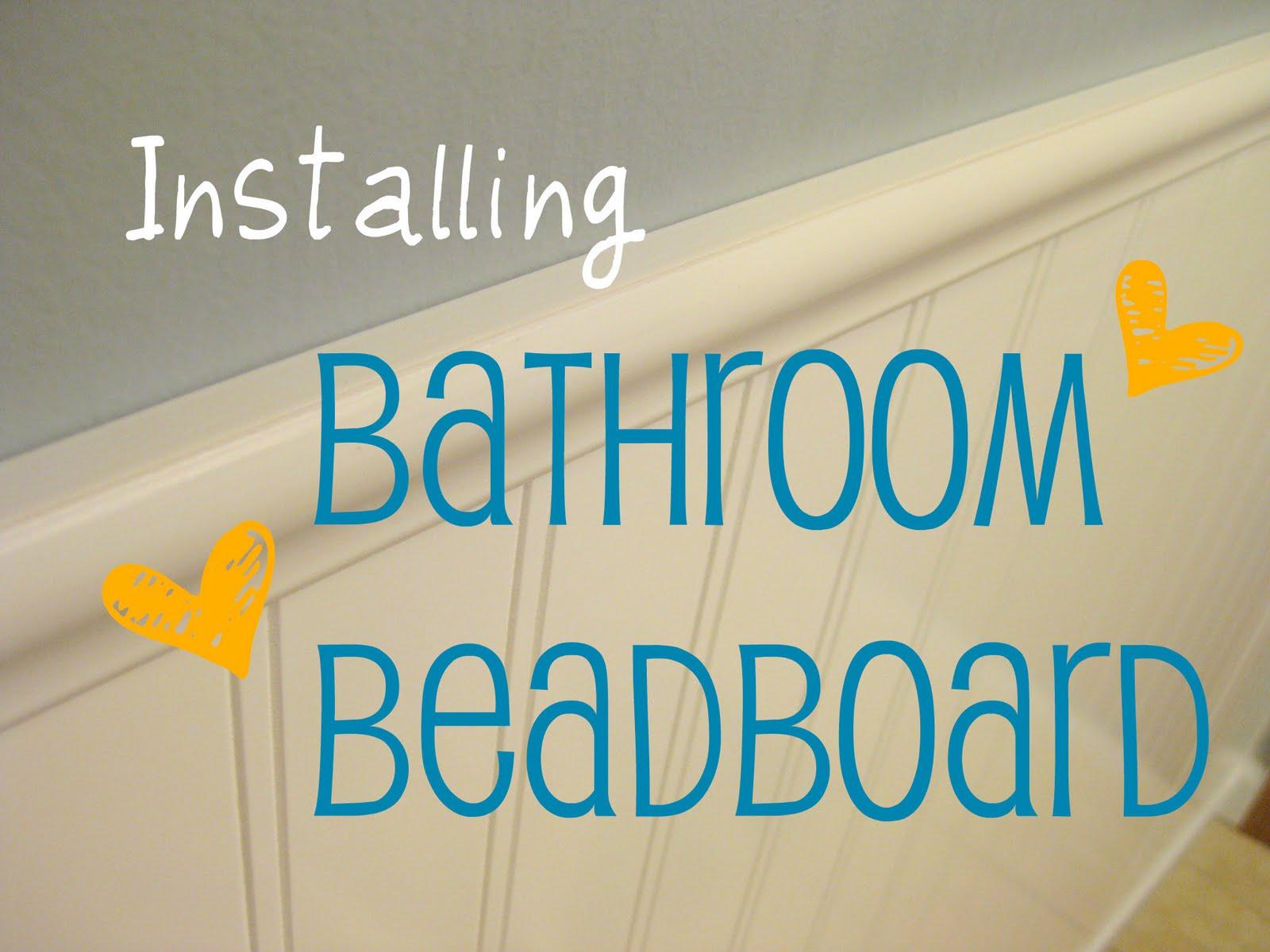 Installing Beadboard In Bathroom.Hems And Haws Bathroom Beadboard