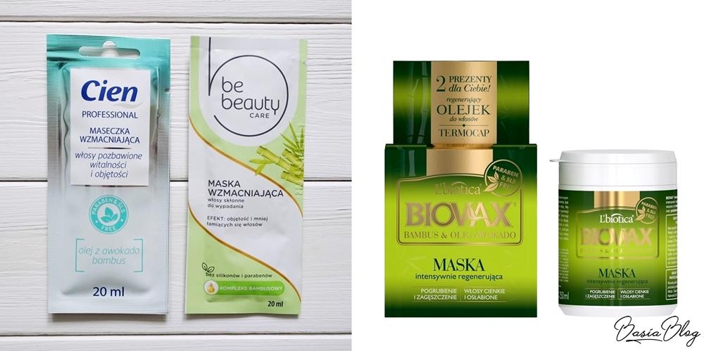 zielona maska do włosów Cien, zielona maska Be Beauty, zielona maska Biovax