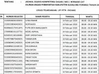 Jadwal Ujian Per Sesi - CPNS 2019 Kabupaten Sijunjung