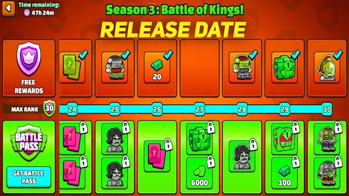 Mini Militia New Battle Pass Season 3 Release Date | Battle Pass Season 3 Launch Date