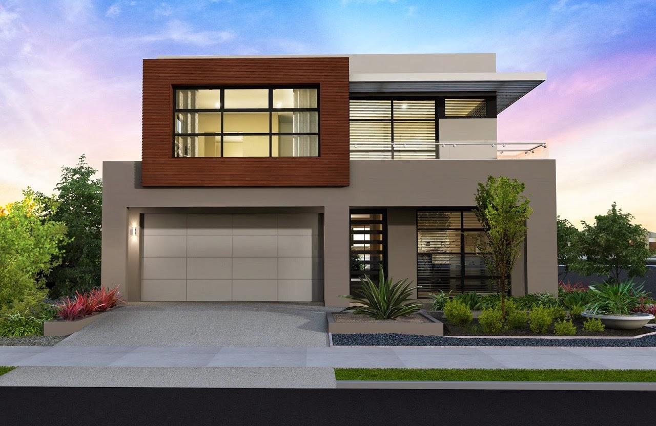 Decoracion actual de moda fachadas de casas modernas for Fachada de casas modernas con vidrio