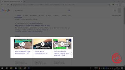 2. Selanjutnya pilih bagian layar yang ingin di screenshot saja