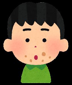 口の周りが汚い子供のイラスト(男の子)